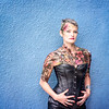 Body Paint Event July 2019 - Lorie Blue Wall