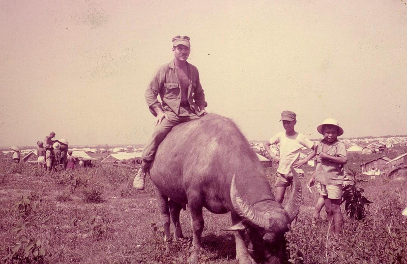 Cam Lo Village - John R O'Brien on the Water Buffalo