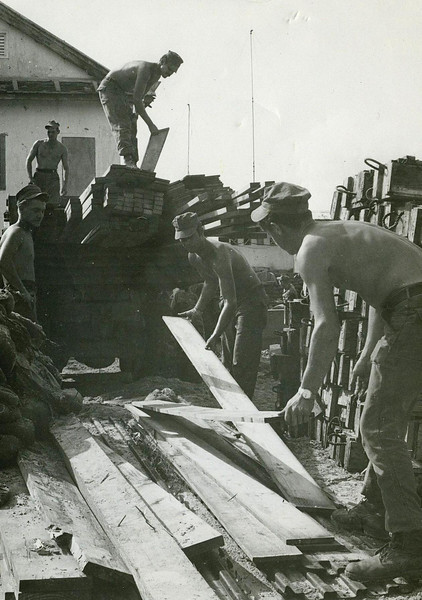 Building A Hut For The Army