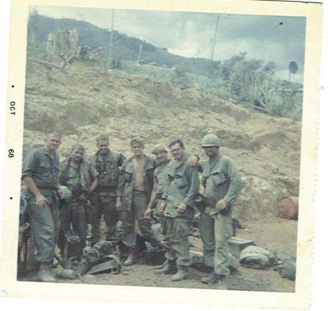 Bruce Morris (4th from left)...Departing Khe Sanh