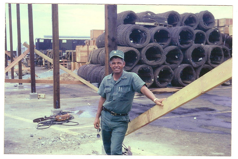 BUC Ron Larrivee - SeaFloat - May-Jun '69.  Orders to build 7 buildings on 7 Ami barges in Nha Be.  Given 3 weeks to do the job - done in 7 days!  CAN DO!!
