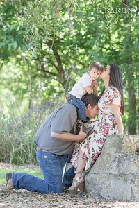 Pretty summer baby announcement session at Hermann Park in Houston Texas
