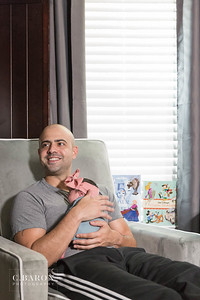 At home newborn session with baby Vivi in Houston Texas