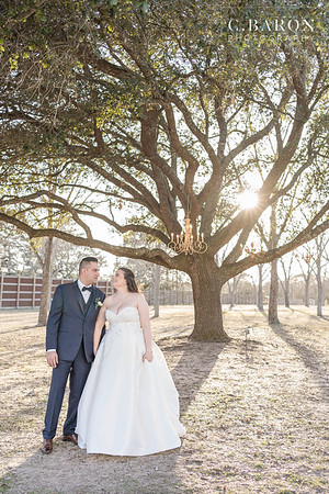 Purple Winter Wedding at The Esates of Pecan Park in Tomball, Texas