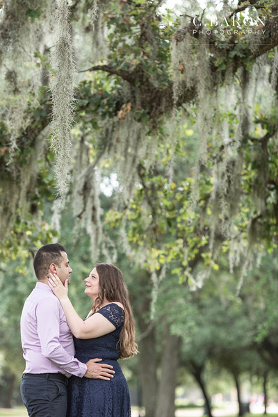 Pretty summer engagement session at Hermann Park in Houston Texas