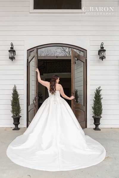 Pretty Winter bridals at The Estates at Pecan Park in Tomball, Texas