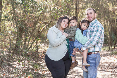 Winter family mini session at a park in Houston, Texas