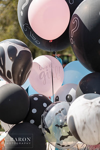 Cute Halloween themed gender reveal party with smoke reveal in Magnolia, Texas