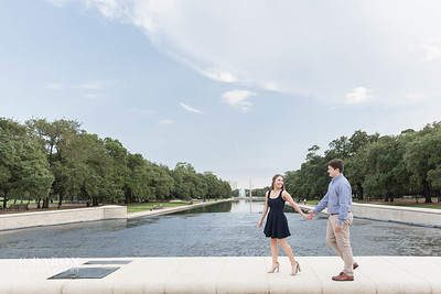 Fun summer engagement session at Hermann Park in Houston Texas