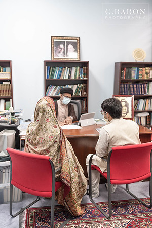 Intimate Nikah Ceremony with a portrait session after in Downtown Houston