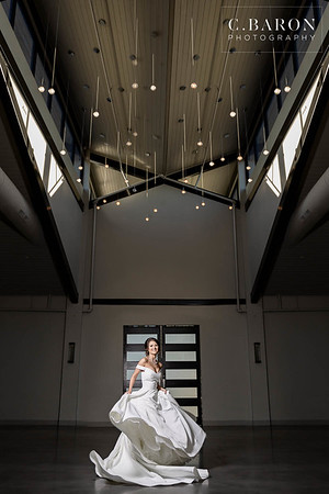 Beautiful Winter Bridals in classic silk gown at Jennings Trace in Montgomery Texas