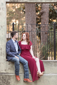 Winter engagement session at Hermann Park in Houston Texas