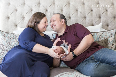 Fun newborn photo session at home with our Aggie couple.