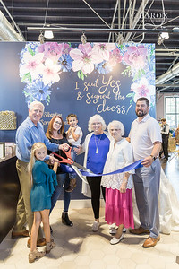 Ribbon Cutting for the grand opening of Something Blue Bridal & Prom in Angleton Texas