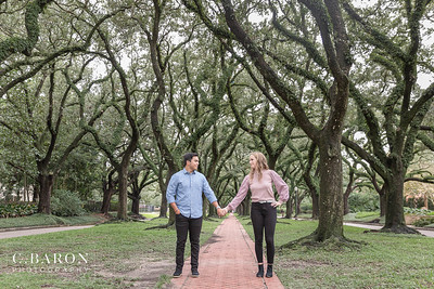 Pretty Rainy Summer Engagement session in the heart of Houston, Texas