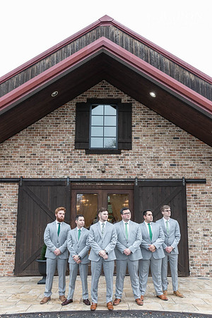 Pretty winter wedding in the chapel at The Carriage House in Conroe Texas