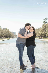 Beautiful Sunny day Engagement Session at a Downtown Houston park