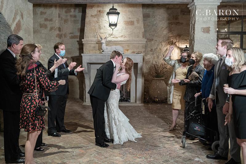 Gorgeous black tie intimate wedding at The Clubs at Houston Oaks in Houston, Texas