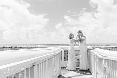 same-sex bridal session on a beautiful summer day in Galveston Texas