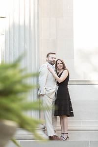 Pretty winter engagement session in the museum district in Houston Texas