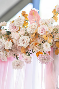 Pretty Mustard and Blush wedding inspiration at The Luminaire in Montgomery, Texas