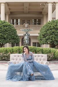Gorgeous Winter Bridal at The Springs in Cypress in Houston, Texas