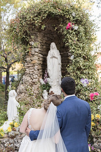 Pretty fall Catholic church ceremony in Houston with reception at the Springs in Magnolia Texas