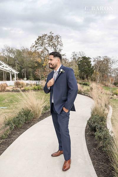 Stunning Dusty Blue Winter Wedding at The Springs in Wallisville, Texas
