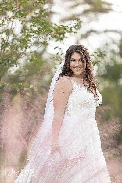 Rainy day bridal portraits at The Springs in Wallisville, Texas