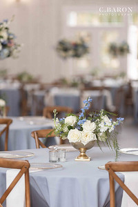 Stunning Dusty Blue Winter Wedding at The Springs in Wallisville, Texas