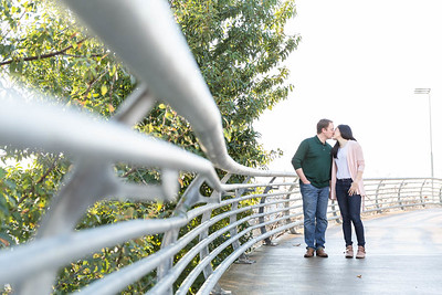 Houston Engagement session near downtown Houston
