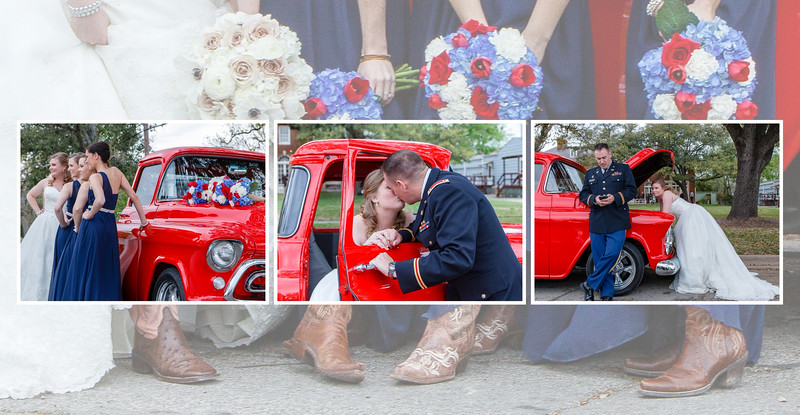 Astin Mansion Wedding, Bryan Texas, College Station, Texas A&M, Aggies, National Guard, Red, White, Blue.