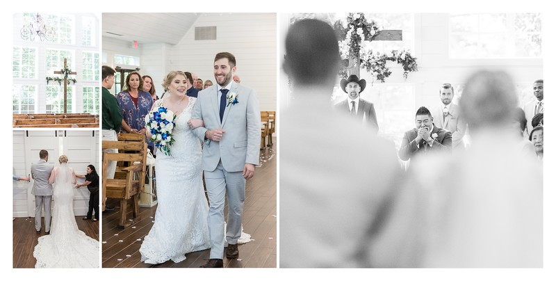 Pretty summer wedding at The Carriage House in Conroe Texas