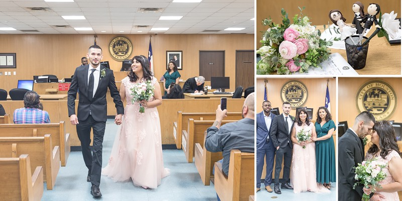 Houston Courthouse Wedding with beautiful at home reception