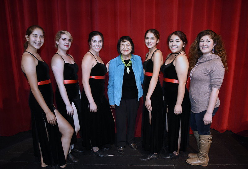 CHS Students with Dolores Huerta