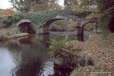 Derrybawn Bridge, river foreground