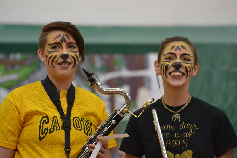 Canon City High School students take part in the Springfest Assembly on Friday at the school. Carie Canterbury/Daily Record