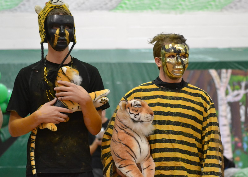 Students take part in Canon City High School's Extreme Black and GOld Day during the 2016 Springfest Assembly on Friday. Carie Canterbury/Daily Record
