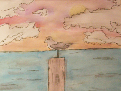 Skies of Rainbow by Madison Gonzalez, Landolt Elementary School