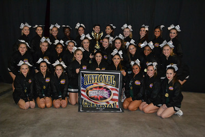 Clear Falls High School cheerleaders at the American Cheer Power competition in San Antonio