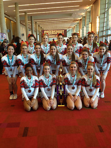 Clear Lake High School Advanced Cheerleading Team at the Cheer Sport Nationals in Atlanta