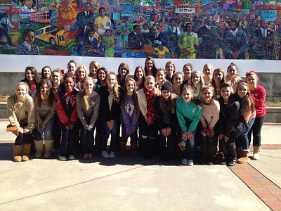 Clear Lake High School Cheerleading Team at the Martin Luther King, Jr. monument