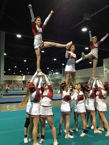 Clear Lake High School Intermediate Cheerleading Team at the Cheer Sport Nationals in Atlanta