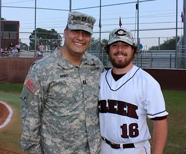 Military Appreciation Game at Clear Creek High School
