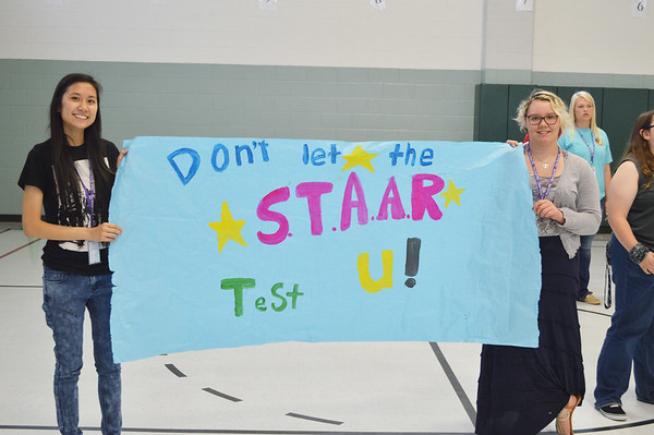 Clear Brook High School PALs Help with Greene Elementary STAAR Pep Rally