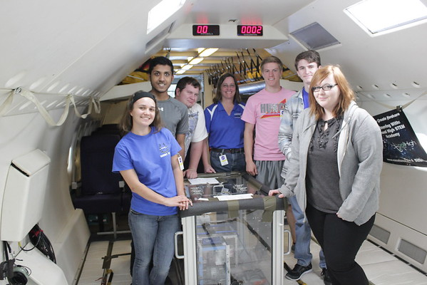 Clear Springs High School Studens Fly on NASA's Zero-G Plane