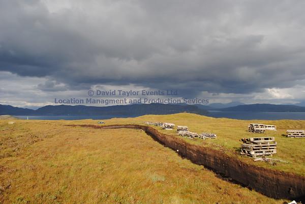 peat bog with peat cutting Elgol - 06