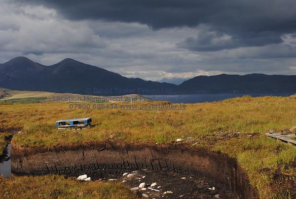 peat bog with peat cutting Elgol - 09