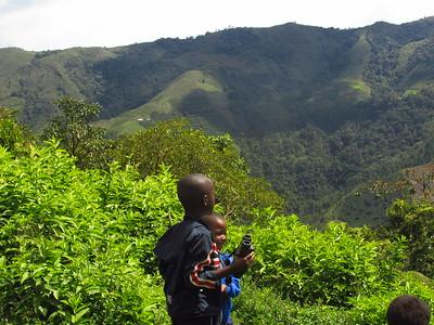 Children helping to monitor bird diversity, La Alsacia CCRI, Colombia