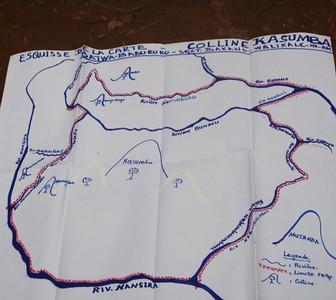Illegal mining map / Carte minière illégale